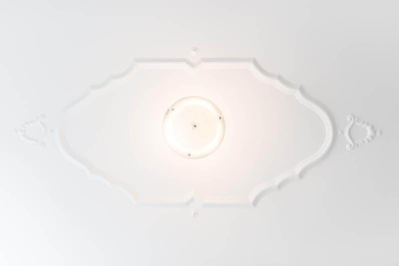 Detail: Deckenbeleuchtung Empfangsbereich
