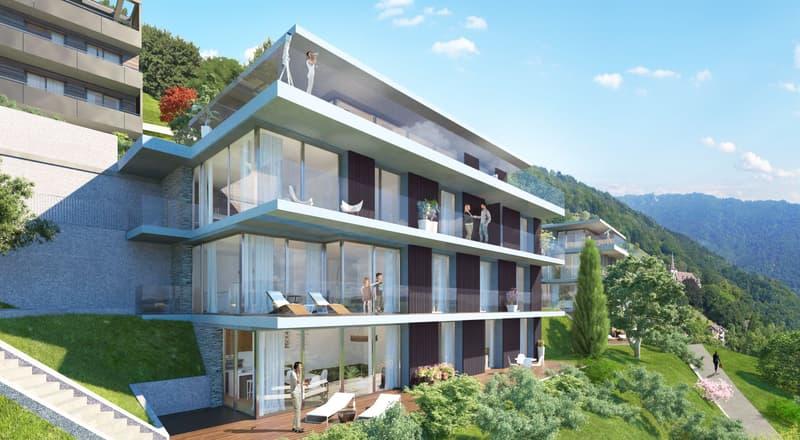 4 pièces de standing avec jardin de 120m2 et accès par ascenseur privatif/ High standard 3 bedroom apartment with 120m2 garden and acces by private elevator (1)