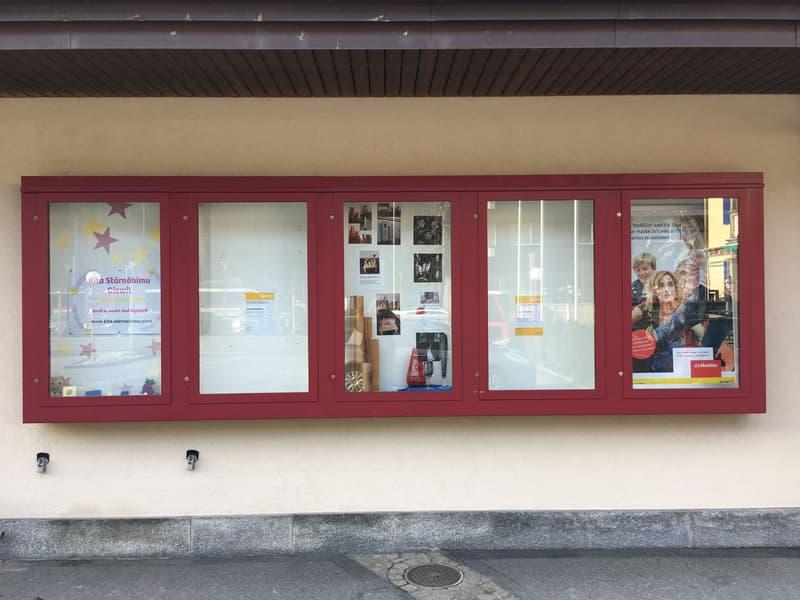 Schaukasten beim Postgebäude Giswil zu vermieten