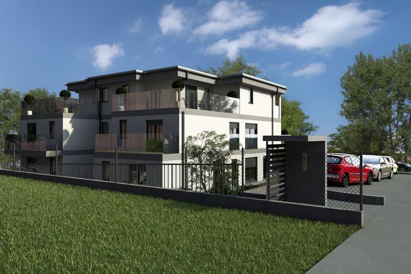 Nuova Residenza La Ronca a Grono, con grande giardino privato.