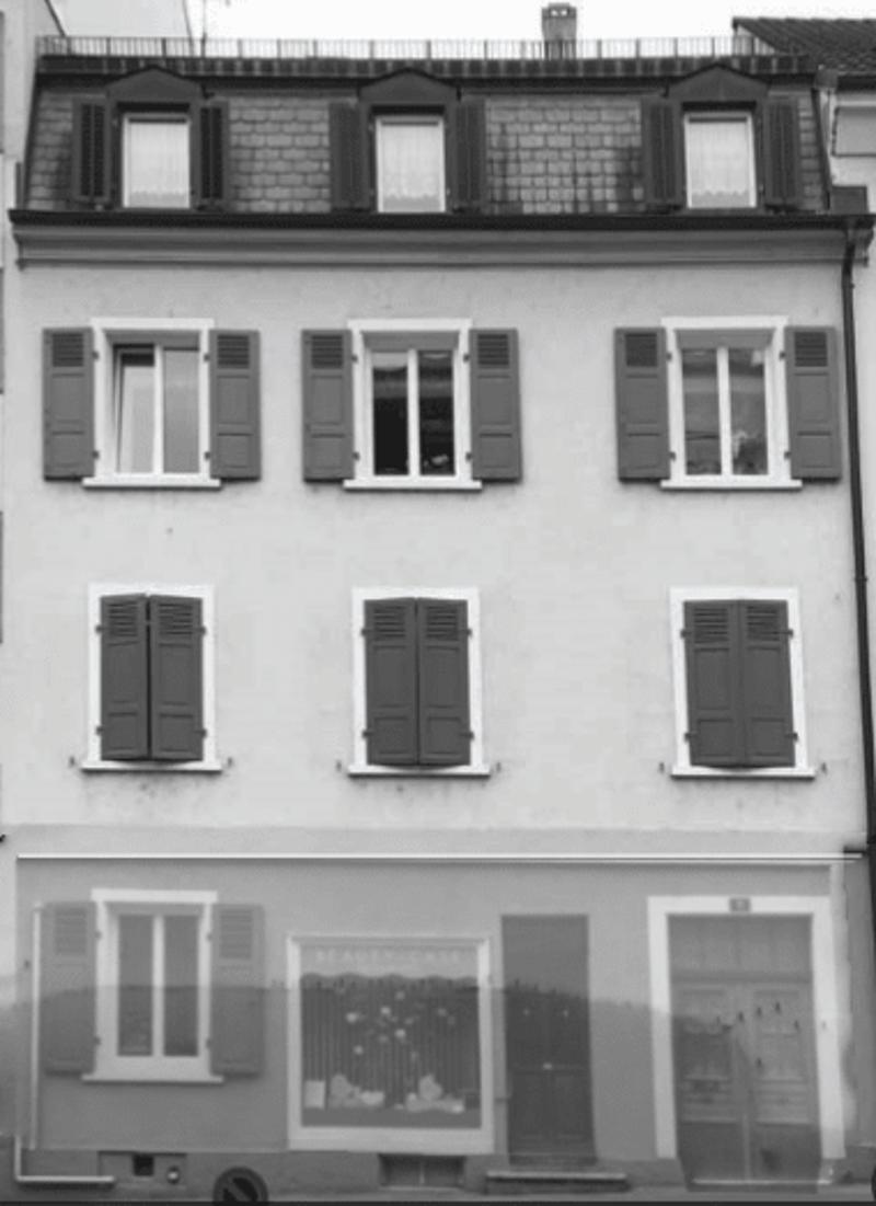 Basler Vorstadthaus mit Ladengeschäft und Hinterhaus (Atelier/Lager) von 1893