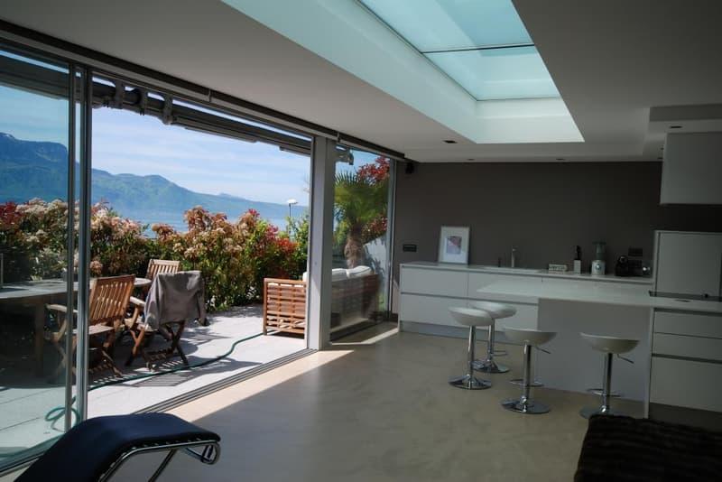 En exclusivité - à 5 minutes de Vevey - Superbe loft contemporain avec vue