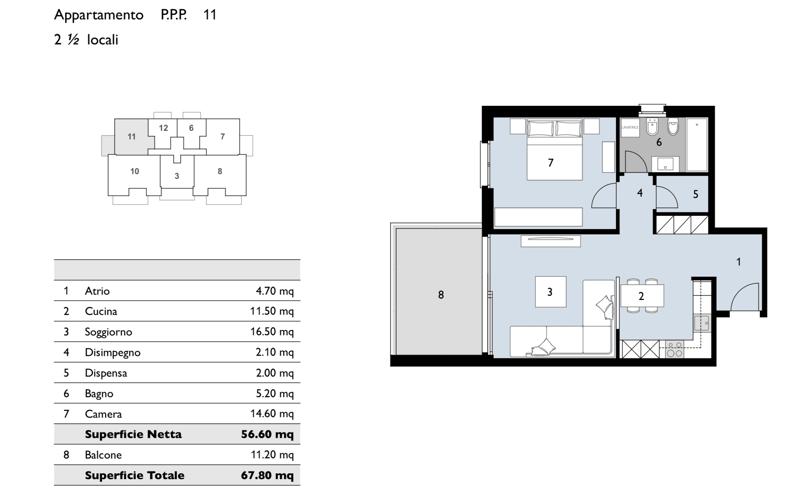 Nuovo appartamento 2.5 locali a Bioggio