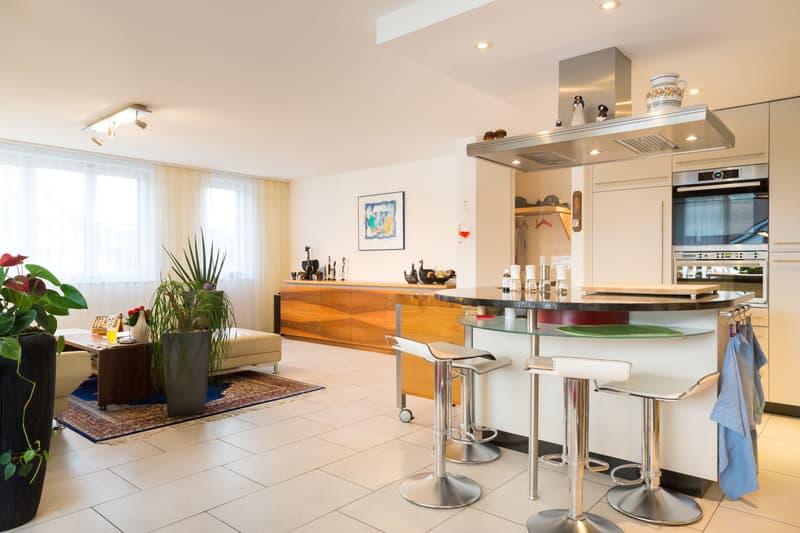 Küche und Wohnbereich