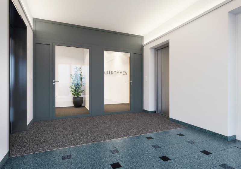 Renovierter Eingangsbereich