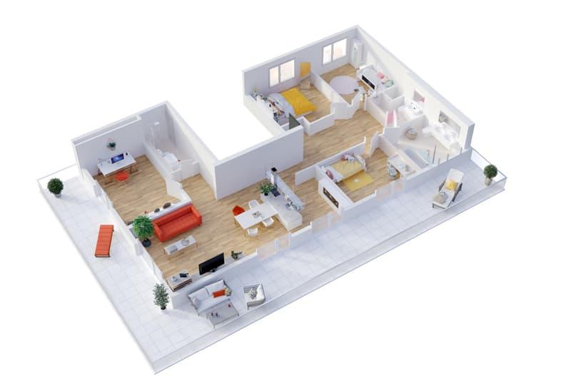 5.5 pièces avec superbe terrasse de 32 m2 - PROMOTION AVENTICA