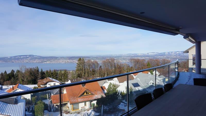 Exklusive 4.5-Zimmer Wohnung mit Sicht auf Zürichsee und Berge