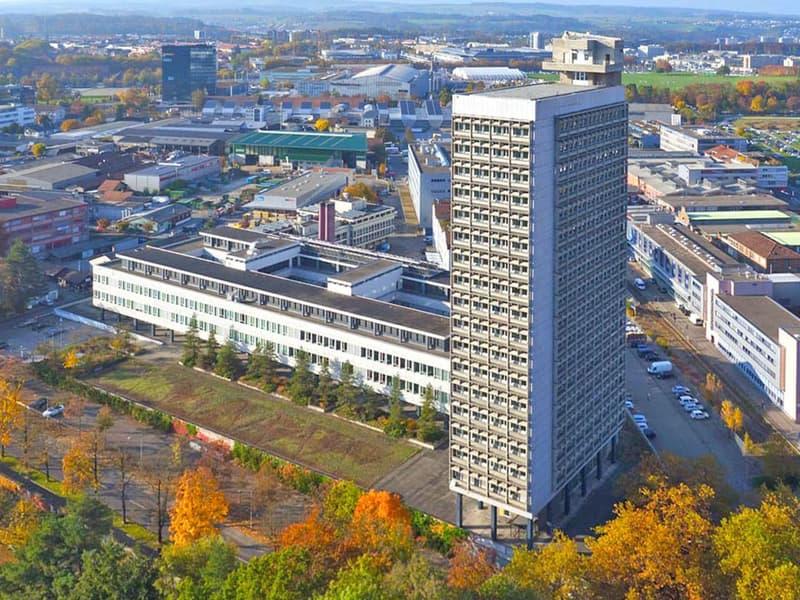 Arbeitsräume im höchsten Bürogebäude von Bern