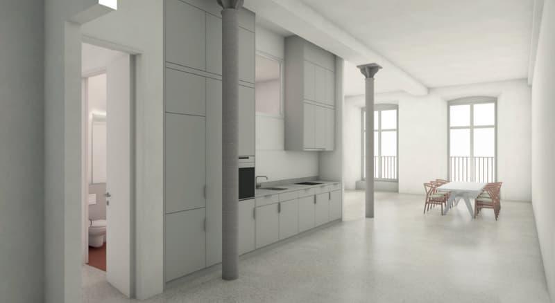 Grosszügige, moderne Loftwohnung in historischer Spinnerei mit Weitsicht