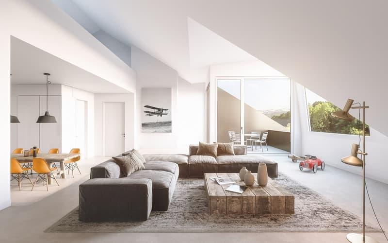 Lichtdurchflutete Dachmaisonette-Wohnung mit herrlichen Aussensitzplätzen