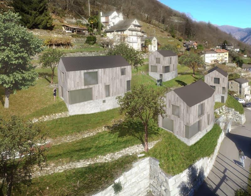 Proposta progetto, vista sul terreno - Bebauungsvorschlag, Blick auf das Grundstück