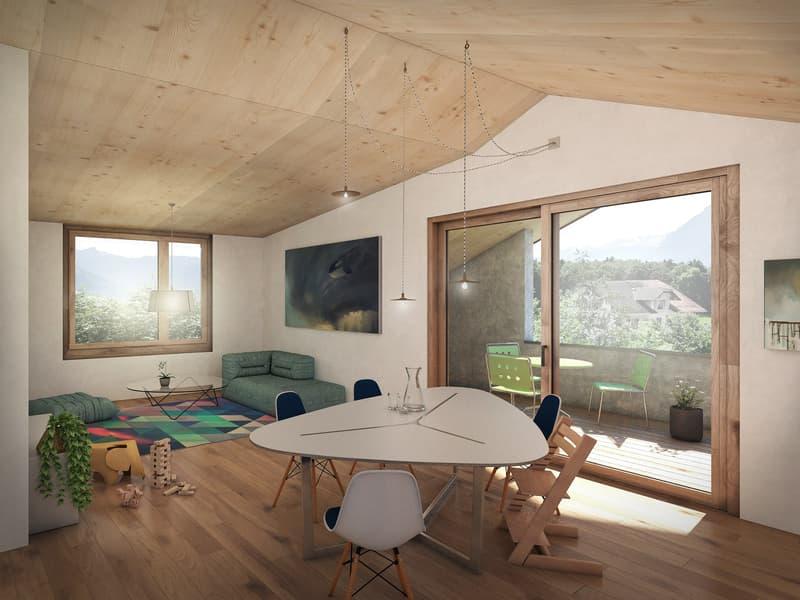 Neubau 3.5-Zimmer-Wohnung im Dachgeschoss an zentraler Lage