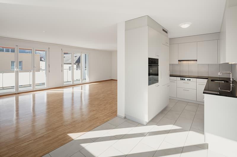 Musterwohnung Wohnbereich mit Küche