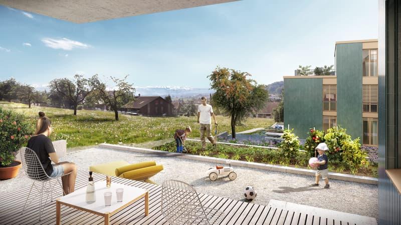 Paradiesische Gartenwohnung für Familien und Hobbygärtner!