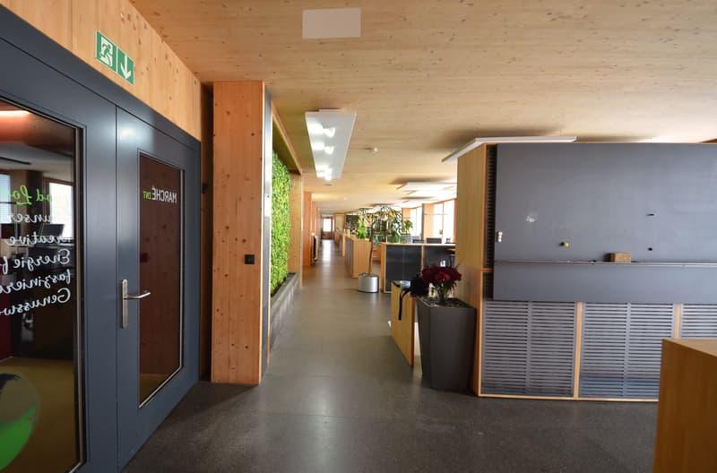 Hochwertige möblierte Büroflächen in einem Nullenergiegebäude