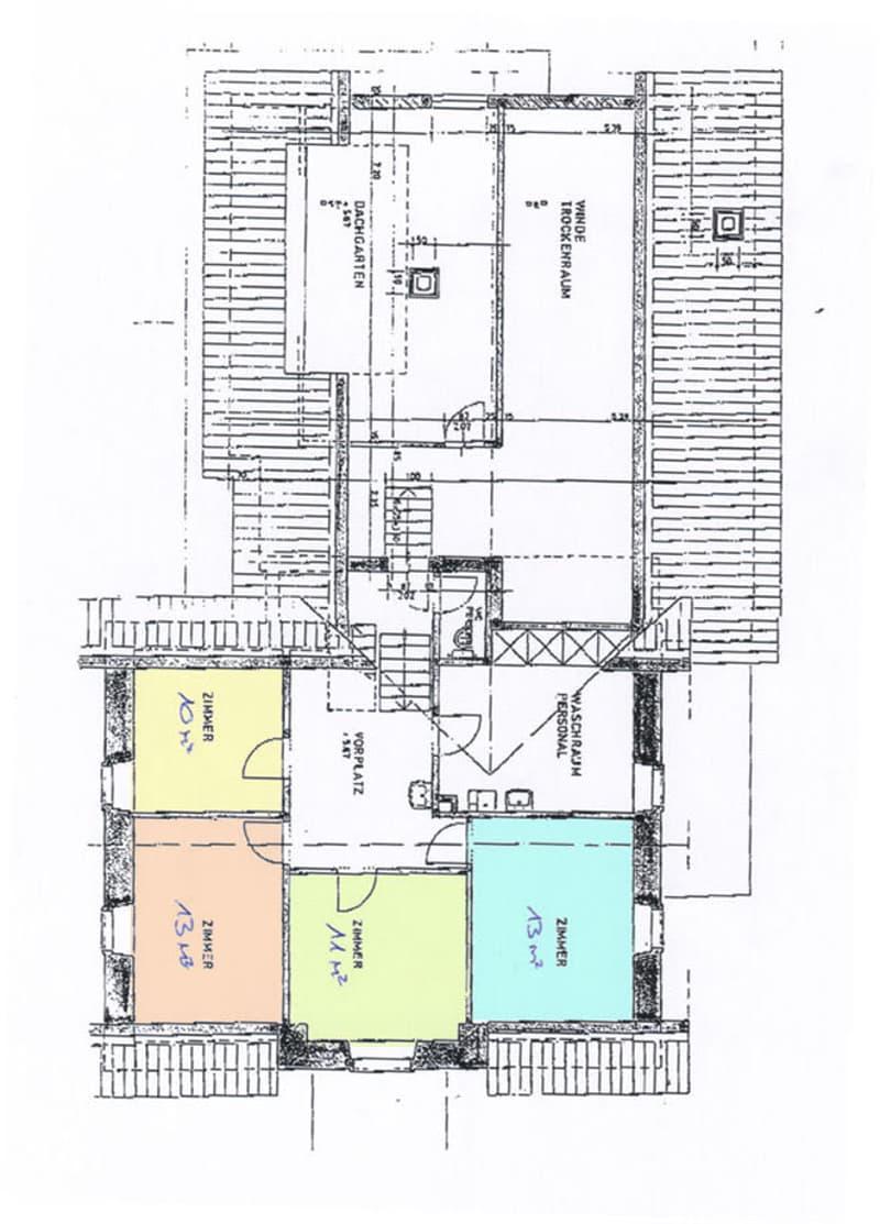 Grundriss der Zimmer
