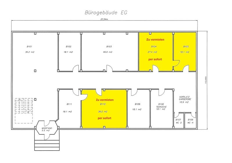 Büro-, Werkstatt- und Lagerräume zu vermieten