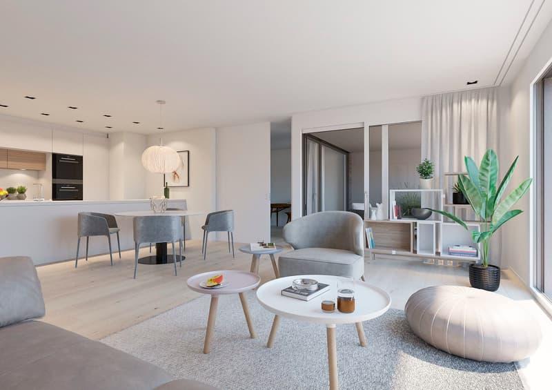 Ein sonniger Wohntraum auf 92 m2 an bester Wohnlage in Aesch.