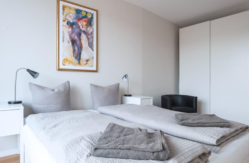 Elegante und modern möblierte 3-Zimmerwohnung in der Stadtmitte von Basel