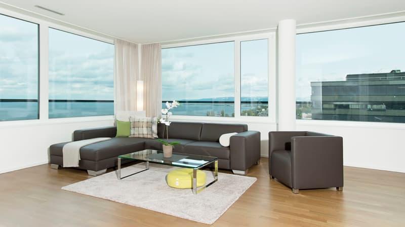 möbliertes Wohnzimmer (Vergleichswohnung)