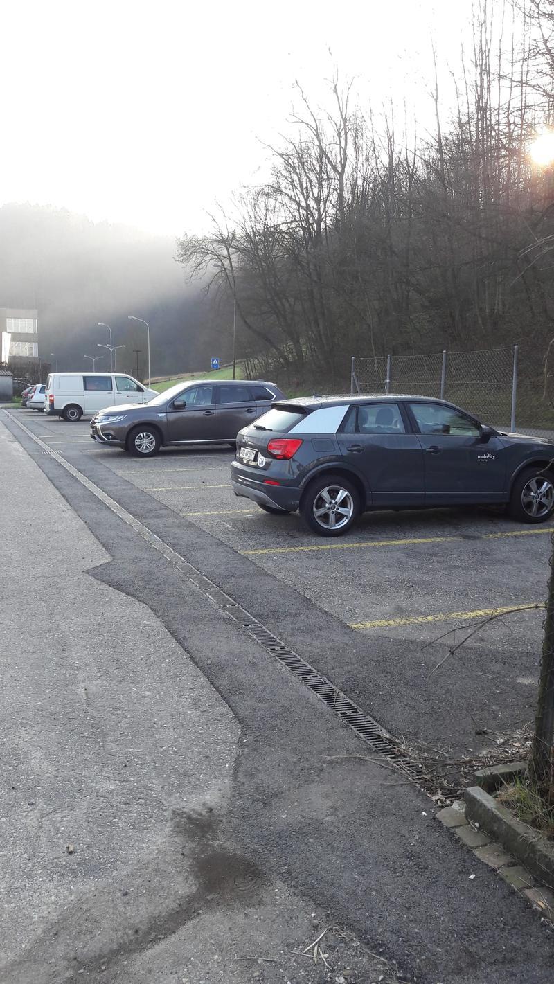 Parkplatz in der Nähe vom Bahnhof Olten