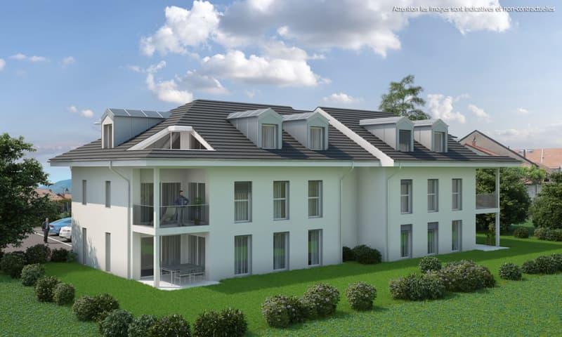 2,5 pièces neuf avec terrasse de 30 m2 et jardin privatif de 44 m2