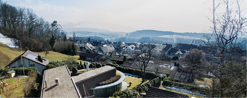 Freistehende Architektenvilla »The View« Weitsicht zwischen Zug und Zürich..
