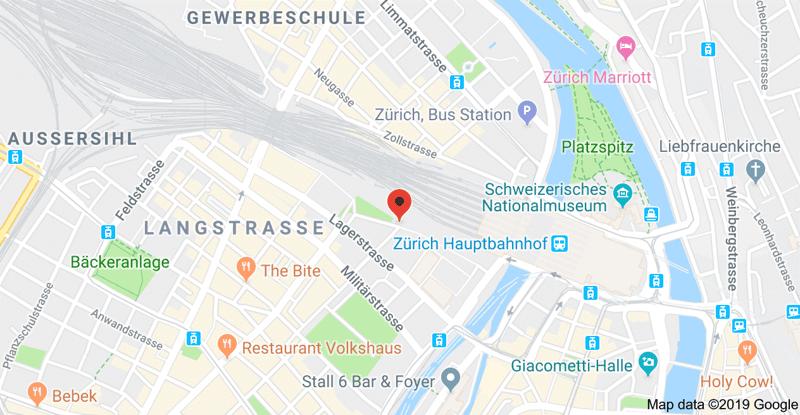 Einstellplatz neben dem Hauptbahnhof in Zürich in der Europaallee (2)