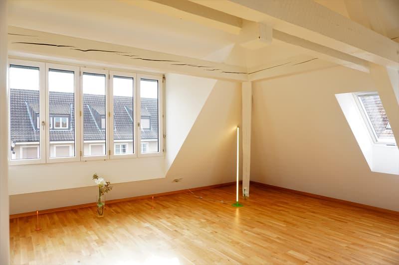 Erstvermietung an zentraler Lage total sanierte moderne 3.5 Dachwohnung mit Waschmaschiene/Tumbler (2)
