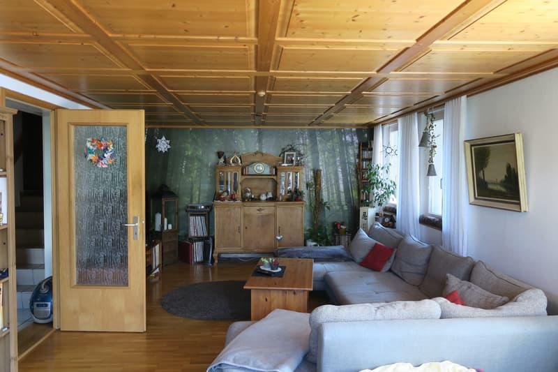 Wohnstube mit Balkon
