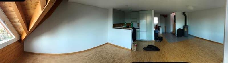 Dach- Maisonette- Wohnung in kleinem, ruhigen MFH zu vermieten