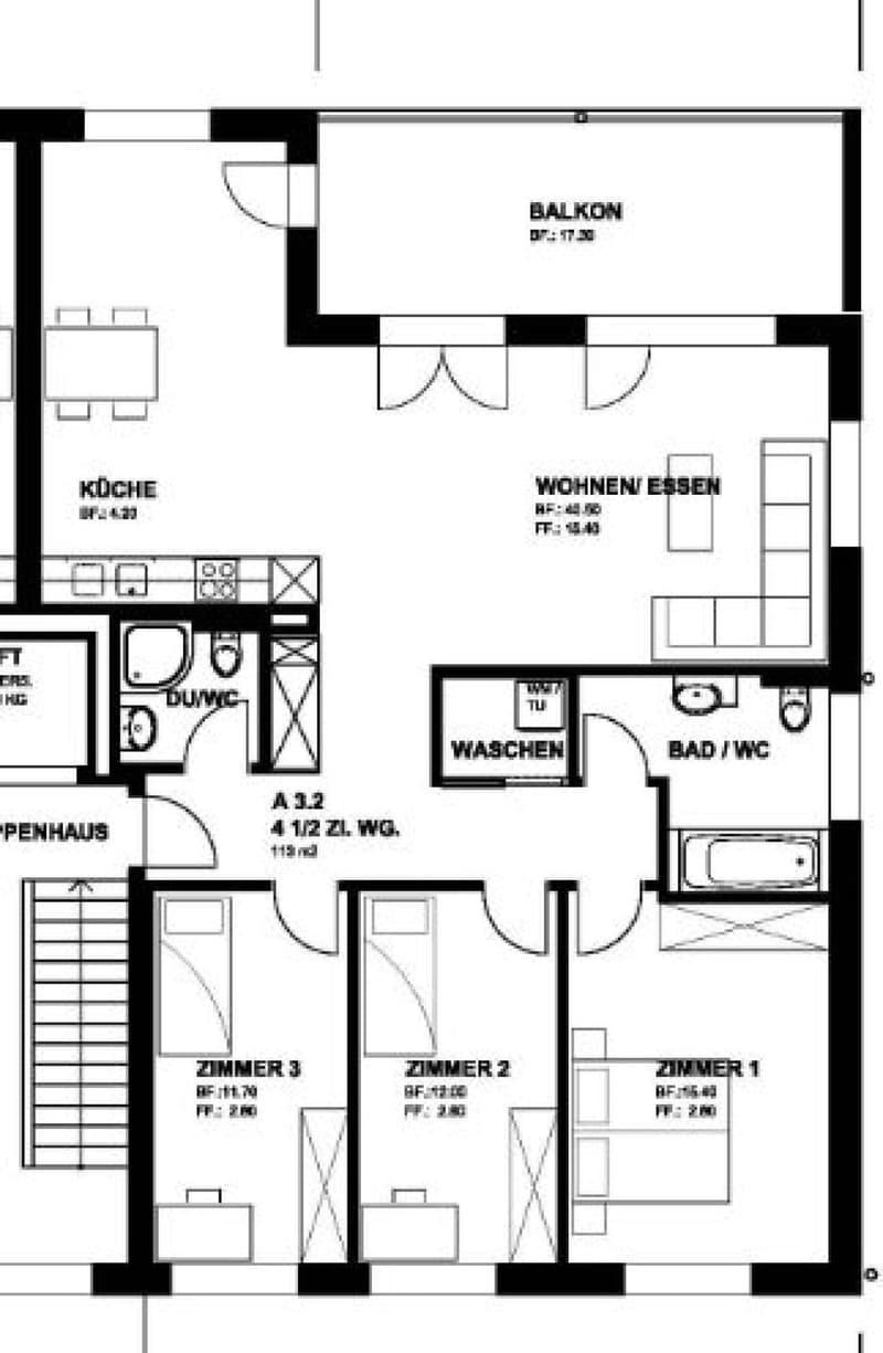 Helle Wohnung mit grosszügigen Balkon (2)