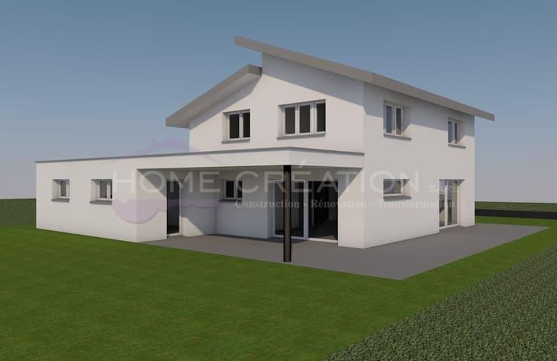 Projet villa sur plans  FUCHSITE