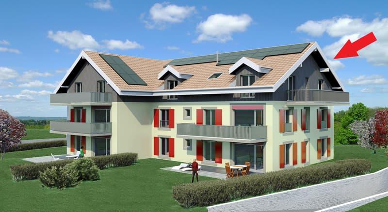 Visites possibles dès début mars : Bel appartement de 4,5 pièces aux combles à Malapalud