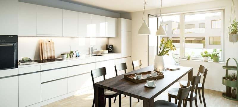 Erstklassige Maisonette Wohnung mit Garten in aufstrebendem Quartier (3)