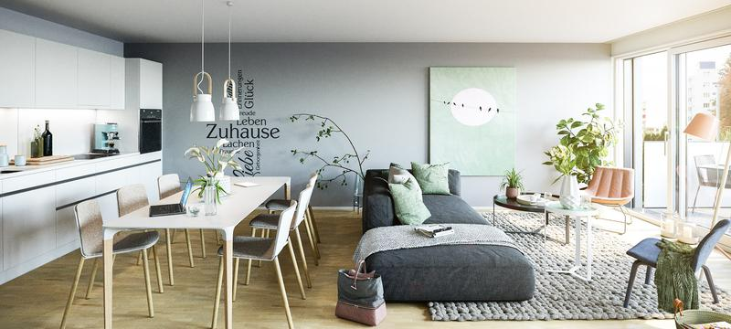 Erstklassige Maisonette Wohnung mit Garten in aufstrebendem Quartier (1)