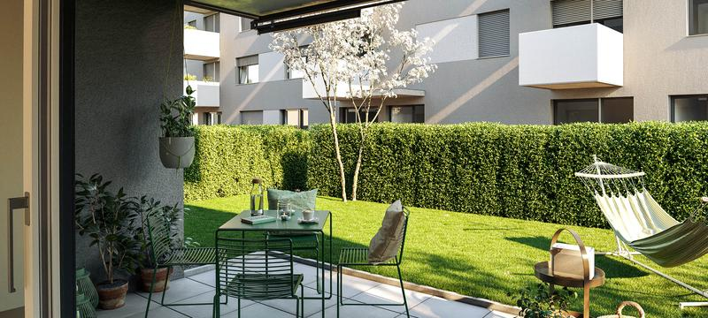 Erstklassige Maisonette Wohnung mit Garten in aufstrebendem Quartier (2)