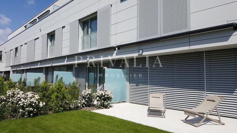 En exclusivité - Duplex de 5 pièces avec terrasse et jardin - Immeuble récent Minergie