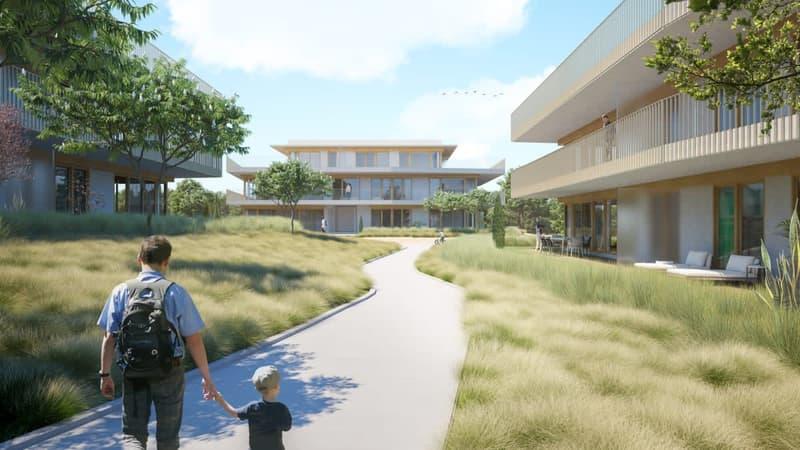 Rez-de-chaussée de 5 pièces - surface pondérée de 143 m2 avec terrasse et jardin
