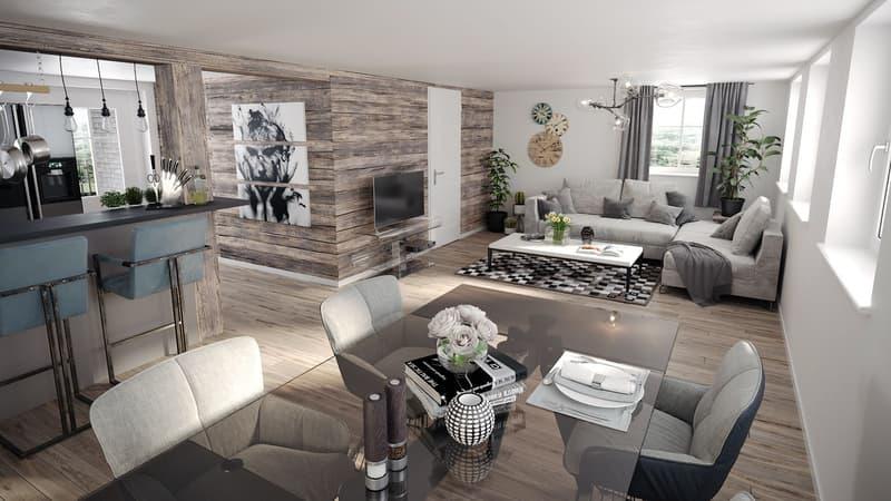 Moderne 4.5 Zi-Wohnung nach Totalsanierung