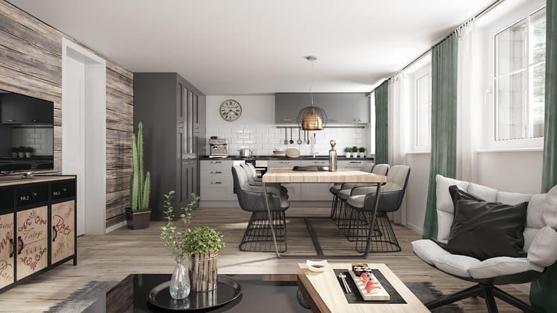 Moderne 2.5 Zi-Wohnung nach Totalsanierung