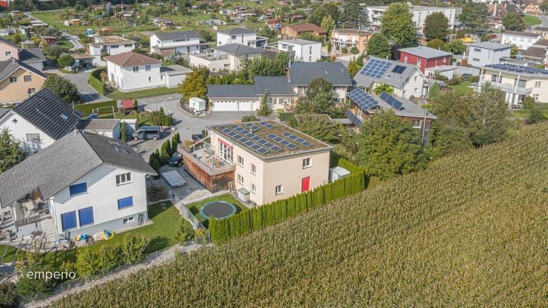 Im Einklang mit der Natur: modernes Einfamilienhaus umgeben von Grün