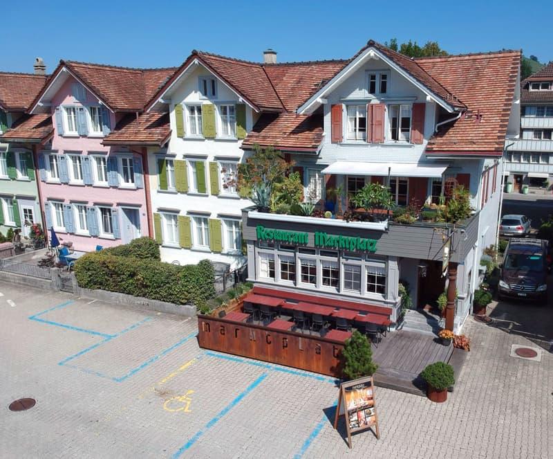 Dronenaufnahme Restaurant Marktplatz