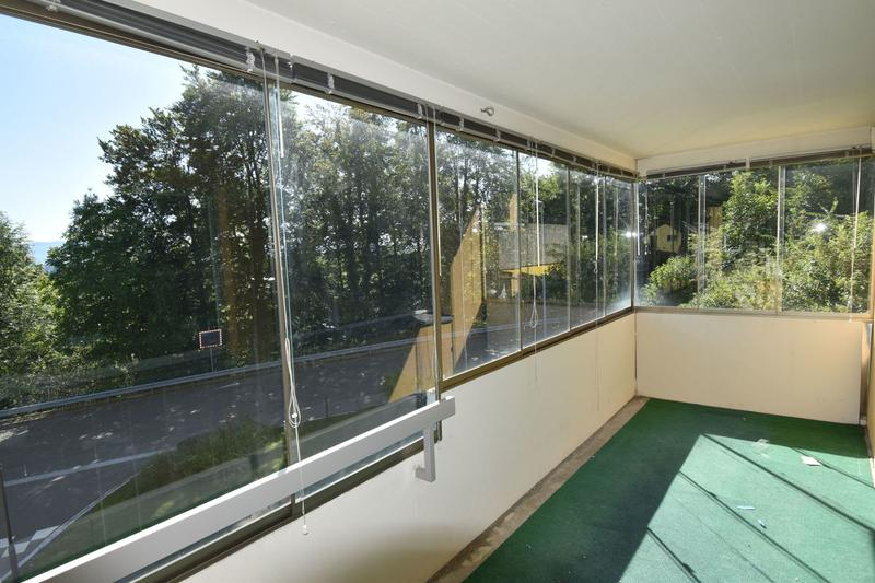 Balkon mit Verglasung