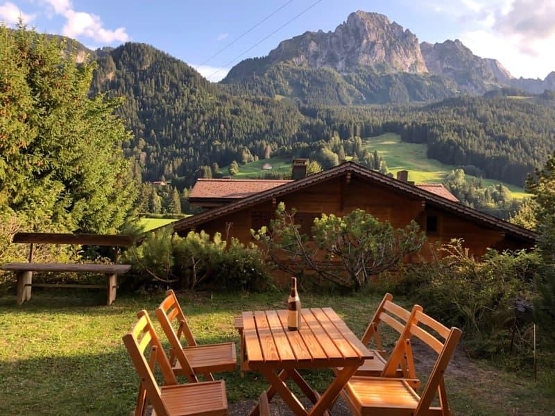 A 10 minutes du centre de Gstaad, 5 min des remontés mécaniques, appartement de 55 m2 avec vue exceptionnelle