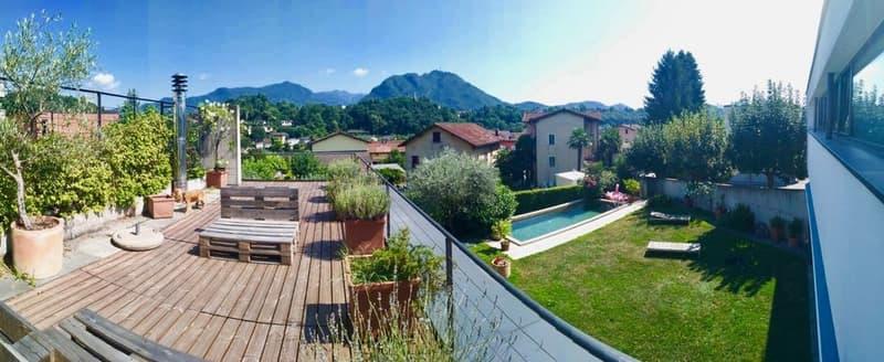 Moderna Villa con Giardino e Piscina in vendita a Lugano-Sorengo