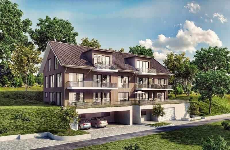 Neubau: 6 Wohnungen 3.5 und 4.5 Z. | Nouveau: 6 appartements 3.5 et 4,5 p.