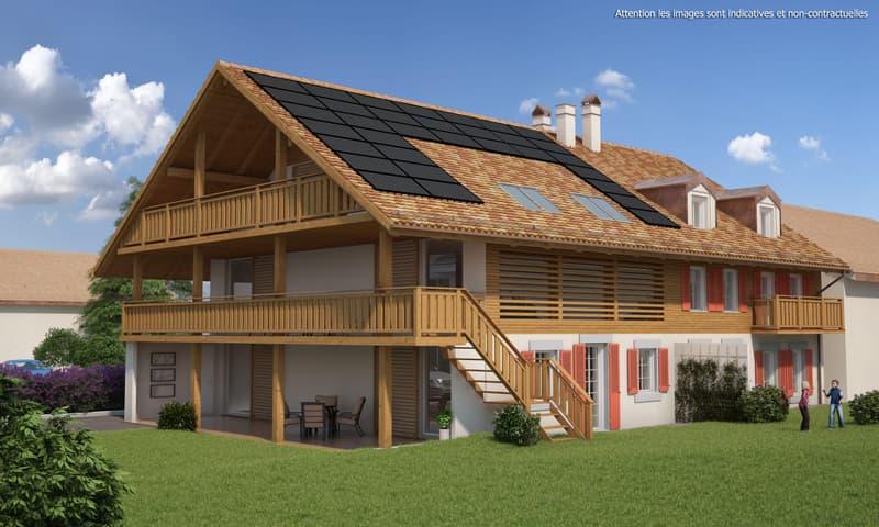 Appartement neuf de 3.5 pièces dans ferme en transformation de 5 logements dans un cadre verdoyant