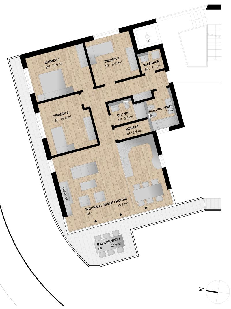 Eine der letzten neuen Luxuswohnungen an erstklassiger Lage - Erstvermietung (3)