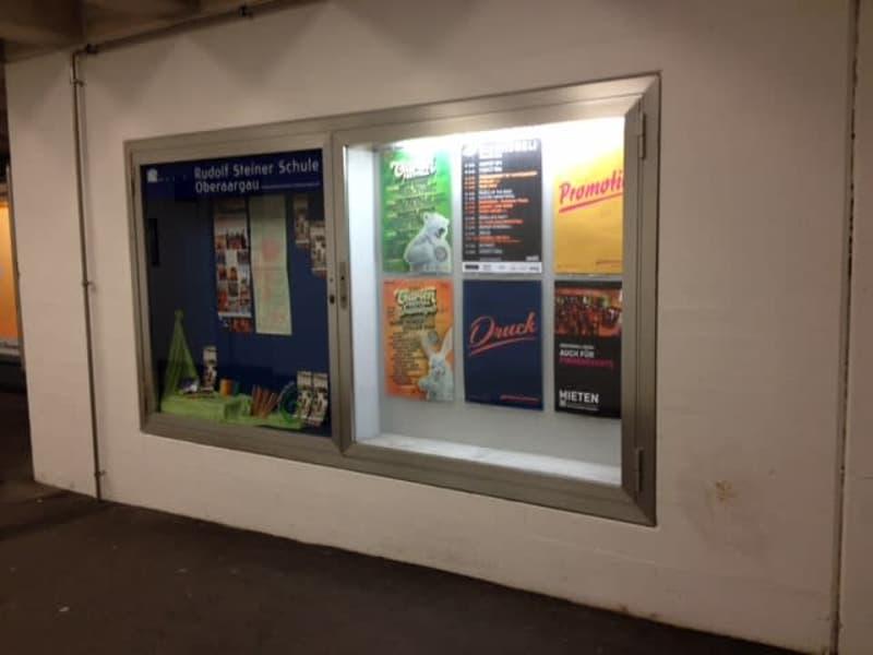 Schaukasten im Bahnhof Langenthal